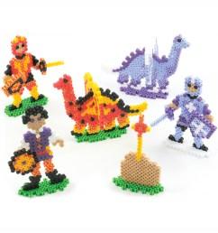 perler fun fusion fuse bead activity kit dragons u0027n knights [ 1200 x 1360 Pixel ]