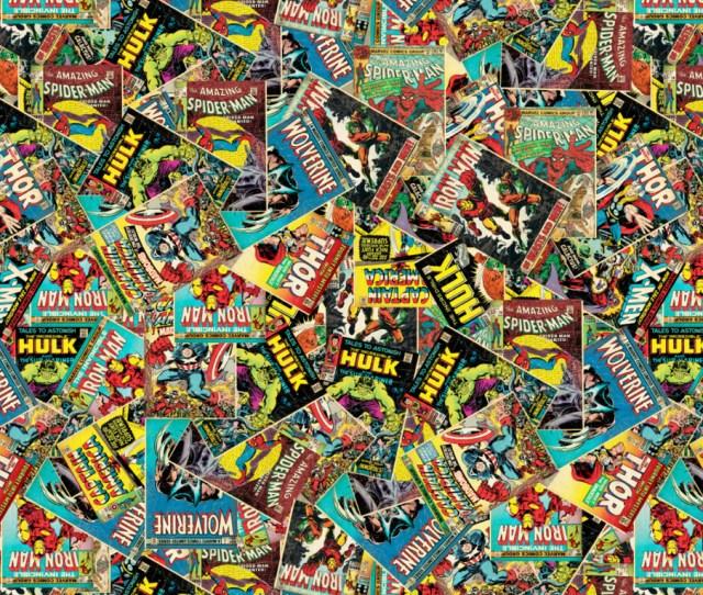 Marvel Comics Cotton Fabric Retro Comic
