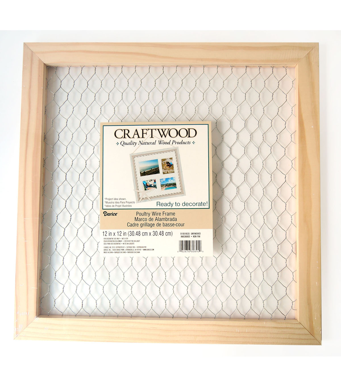 darice craftwood 12 x12