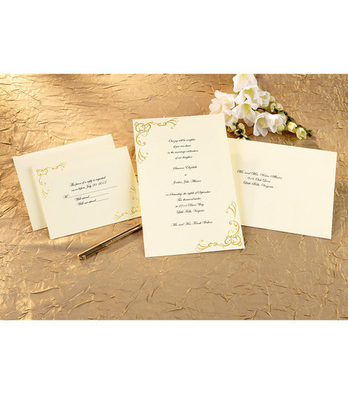 Gold Wedding Invitation Kits PaperInvite