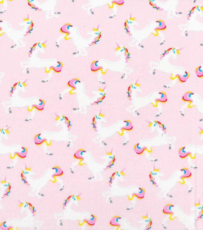 Novelty Cotton Fabric 43 Unicorn Pink JOANN