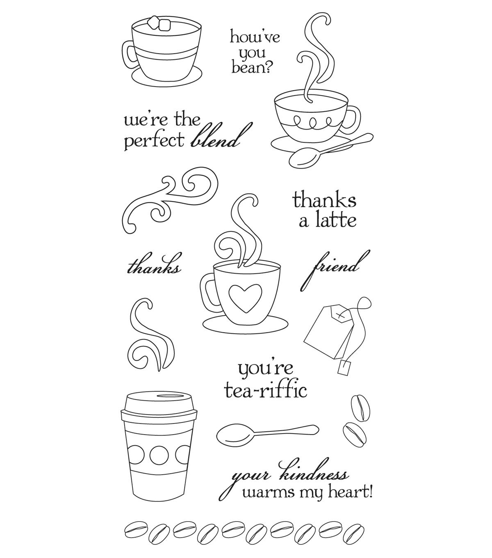 fiskars clear stamps latte
