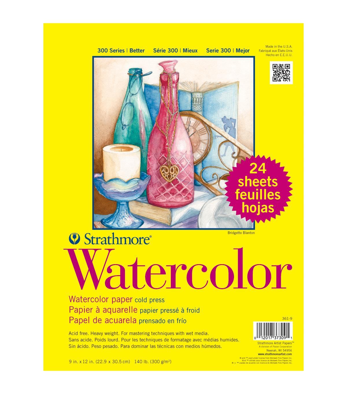 Strathmore Watercolor Paper Classpack 9 X12 140lb Cold Press 24 Sheets