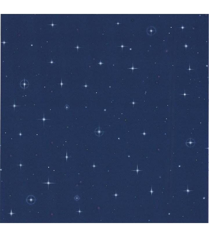 Stars Wallpaper Navy Blue Joann