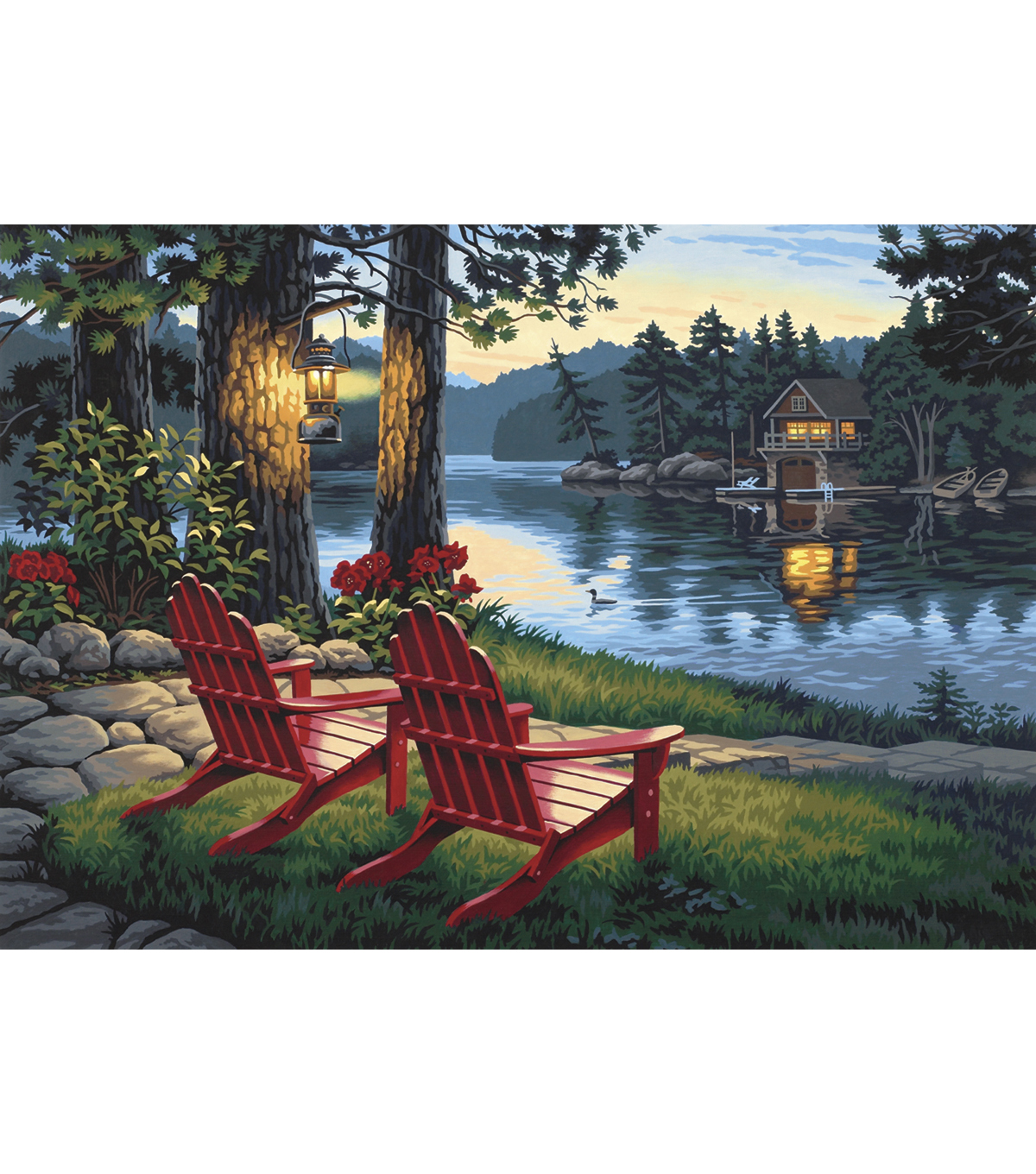 Paint By Number Kit 20 X14 Adirondack Evening