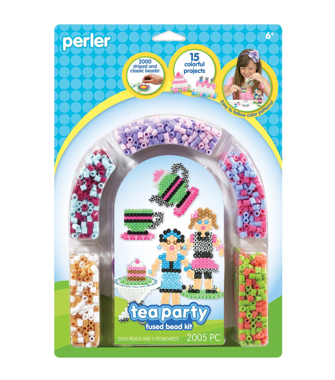 hight resolution of perler fun fusion fuse bead activity kit tea party