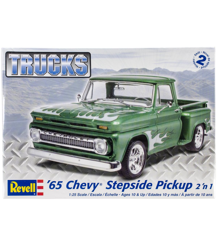 hight resolution of plastic model kit u002765 chevy stepside pickup 2 in 1 1