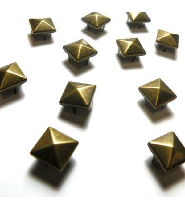 10mm Square Pyramid Stud Pack Silver Joann