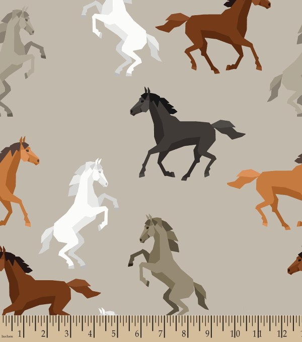 Horse Print Fleece Fabric