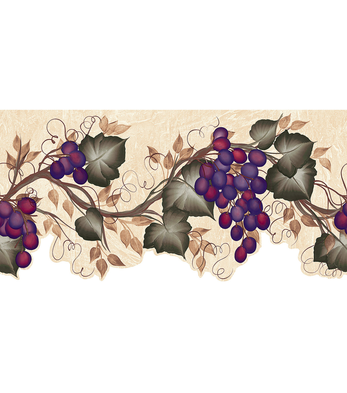 wall paper borders for kitchens three hole kitchen faucet ivy grape vine die cut wallpaper border green joann