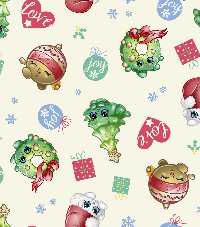 Shopkins Christmas Print Fabric Love Amp Joy JOANN