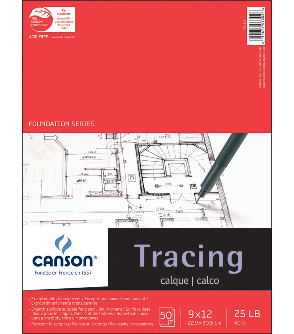 Canson Tracing Paper Pad 9 X12