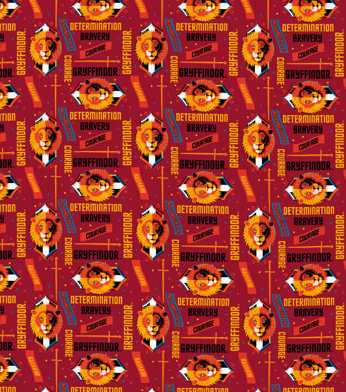 Harry Potter Cotton Fabric Gryffindor Traits