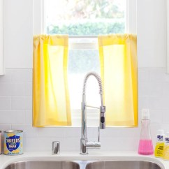 Kitchen Cafe Curtains Cheap Sink How To Make Dyed Joann