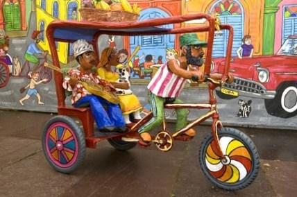 PaperMache Rickshaw