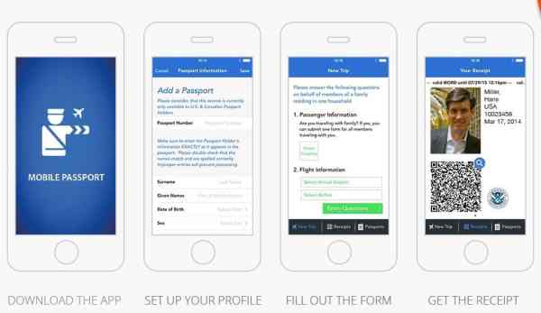 Mobile Passport App process