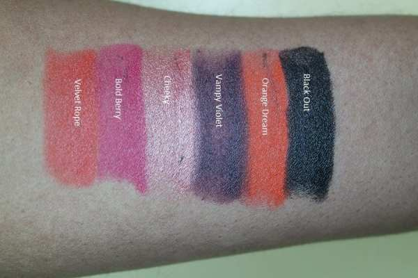 E.L.F. Moisturizing Lipstick Swatches
