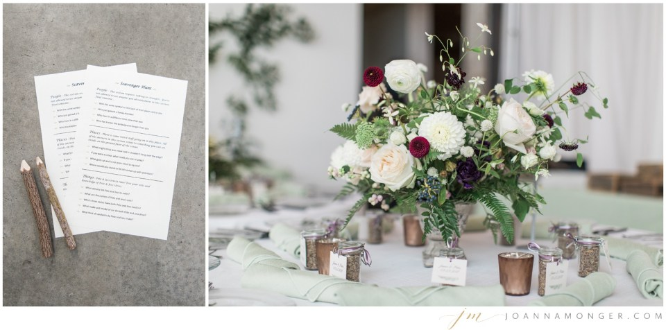 Photos of a tablescape from an elegant wedding at Canvas Event Space in SODO, Seattle, WA. | Joanna Monger Photography | Snohomish & Seattle Wedding Photographer