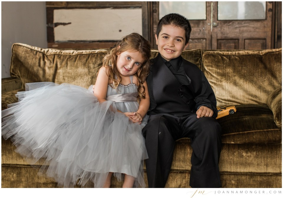 Photos of a flower girl and ring bearer from a gorgeously-detailed wedding at the Corson Building in SODO, Seattle, WA. | Joanna Monger Photography | Snohomish & Seattle Wedding Photographer