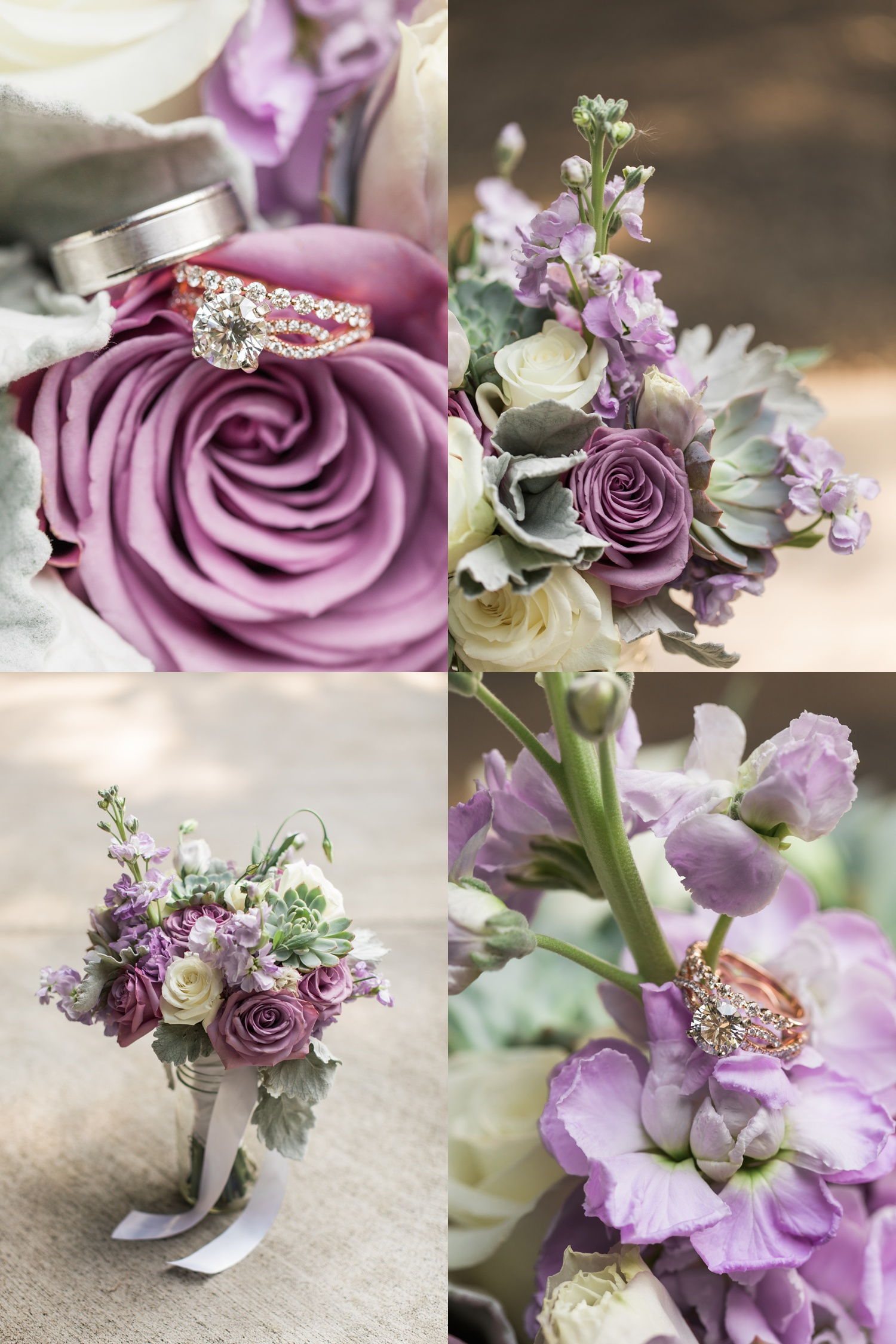 Purple wedding flower inspiration Snohomish near Seattle