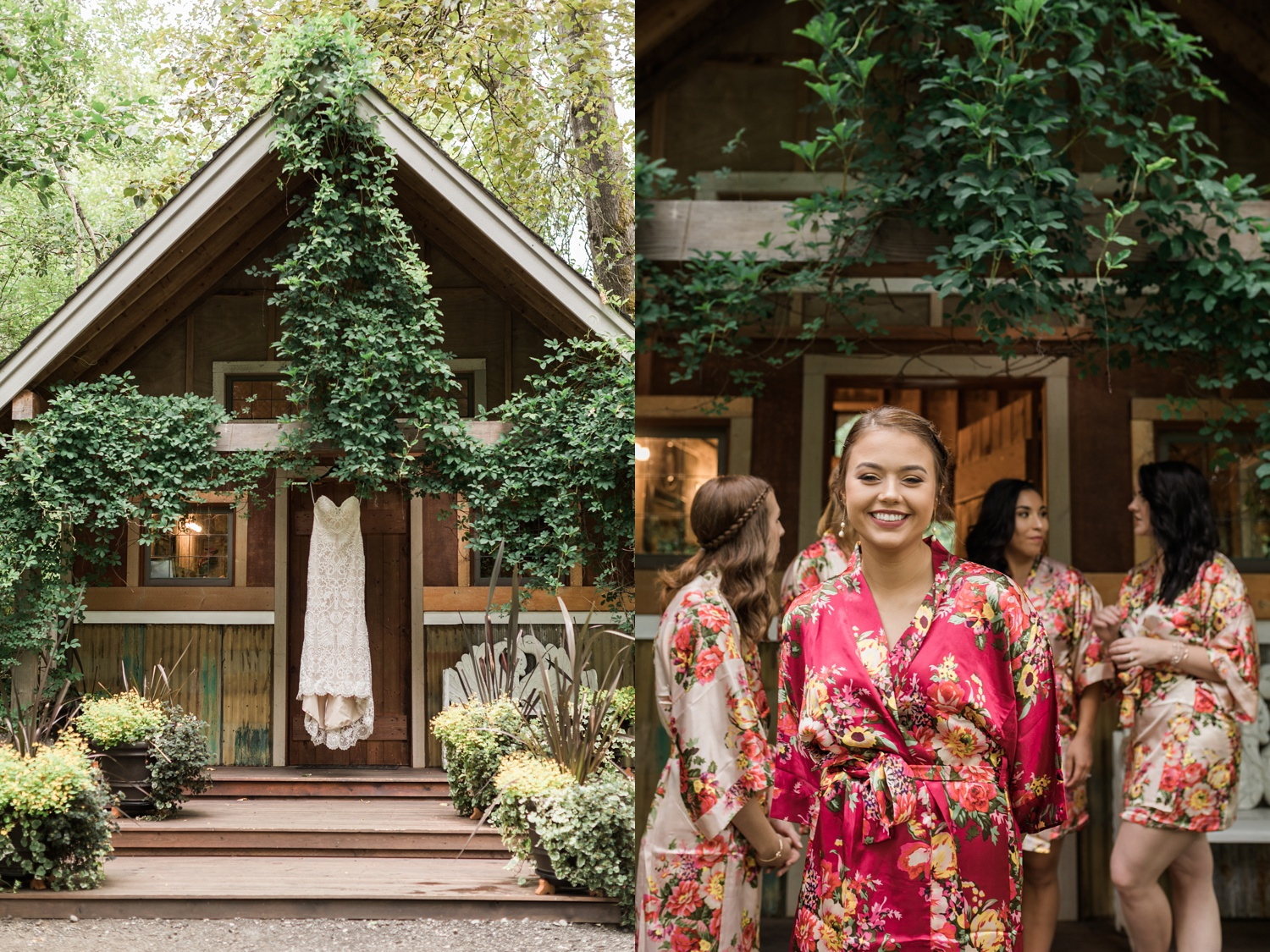 A smiling bride gets ready for her summer wedding at Maroni Meadows in Snohomish, a wedding venue near Seattle, WA. | Joanna Monger Photography | Seattle & Snohomish Photographer