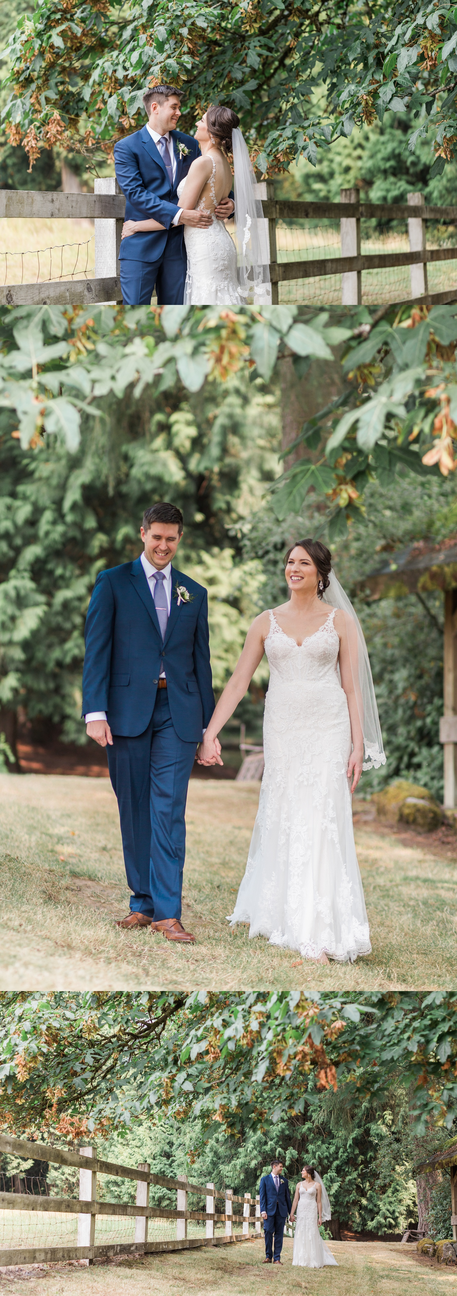 A bride and groom hold hands before their wedding at Chateau Lill in Woodinville, a wedding venue near Seattle, WA. | Joanna Monger Photography | Seattle & Snohomish Photographer