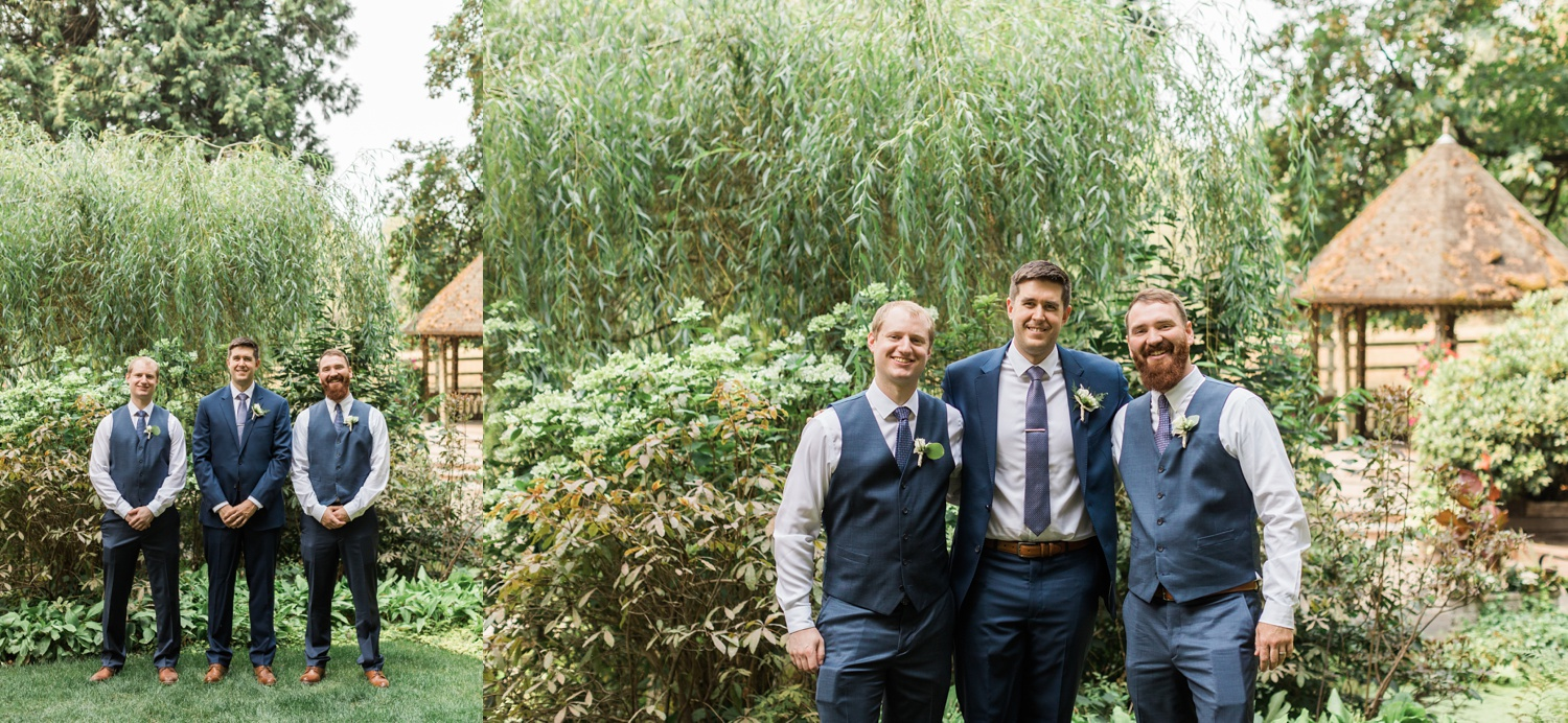 A photo of a groom and his groomsmen before his wedding at Chateau Lill in Woodinville, a wedding venue near Seattle, WA. | Joanna Monger Photography | Seattle & Snohomish Photographer