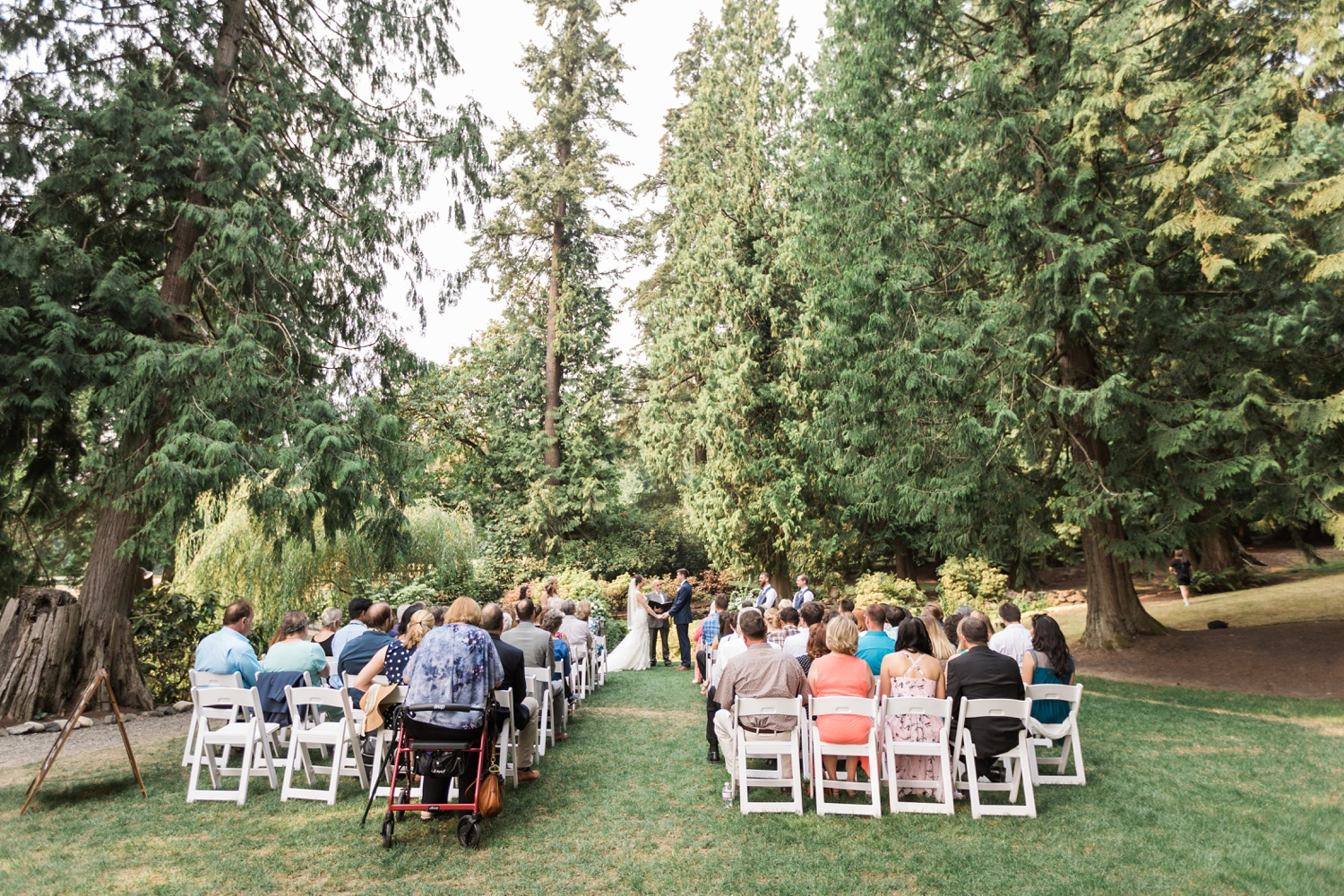 A photo of an outdoor wedding ceremony at Chateau Lill in Woodinville, a wedding venue near Seattle, WA. | Joanna Monger Photography | Seattle & Snohomish Photographer