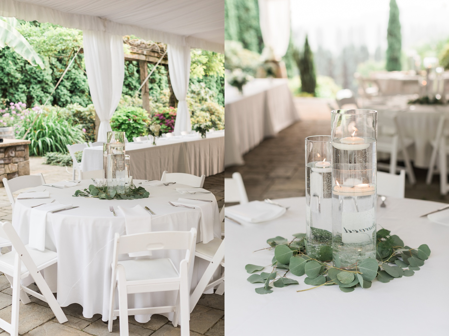 A photo of a reception area and table decor at a wedding at Chateau Lill in Woodinville, a wedding venue near Seattle, WA.   Joanna Monger Photography   Seattle & Snohomish Photographer