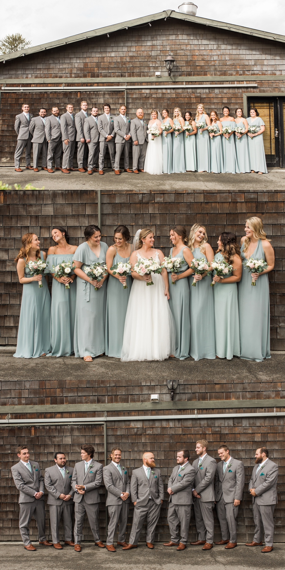 Photo of bridal party at a Hidden Meadows Farms wedding in Snohomish, a rustic yet elegant wedding venue near Seattle.   Joanna Monger Photography