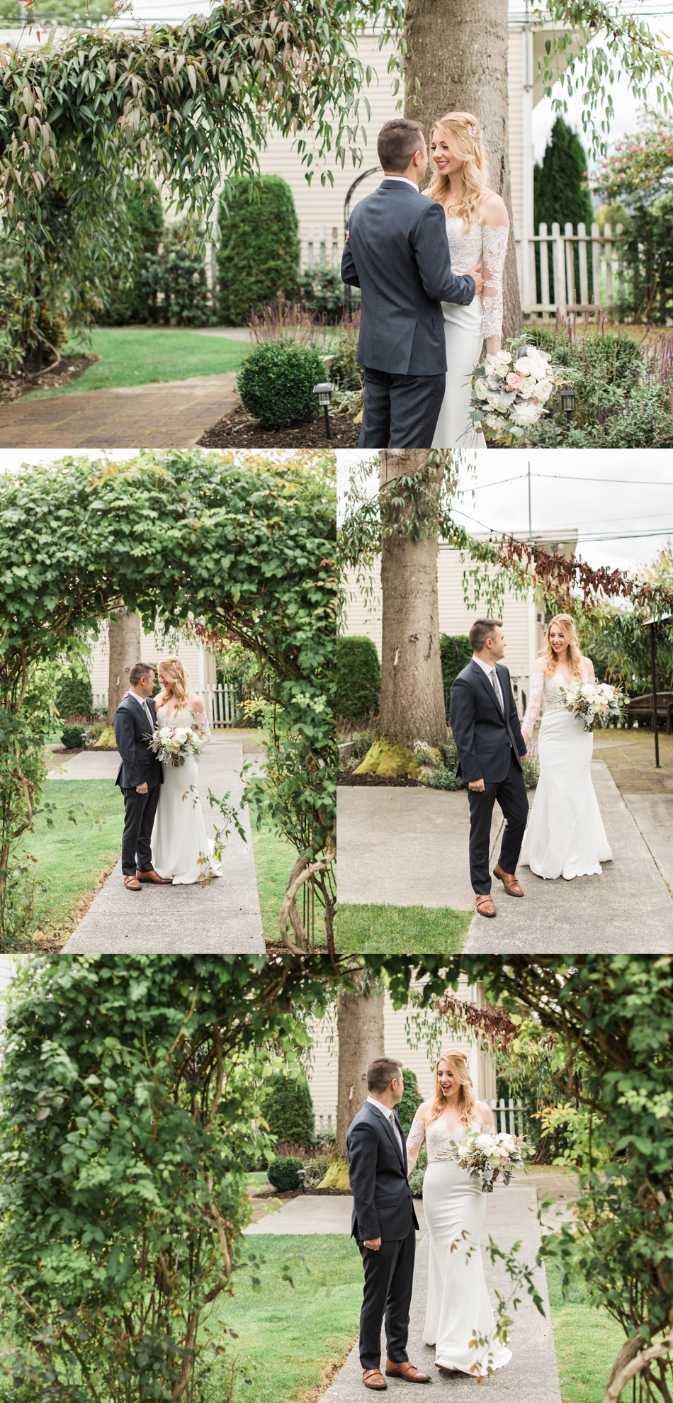 Photo of bride and groom at an intimate wedding at Belle Chapel in Snohomish, a wedding venue near Seattle. | Joanna Monger Photography | Snohomish & Seattle Photographer