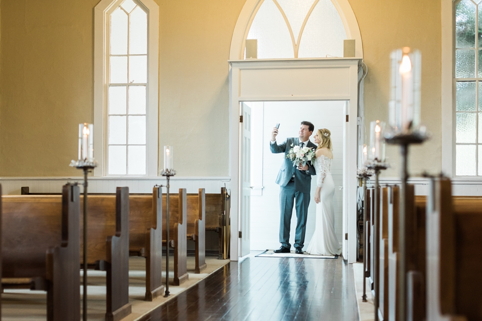 Photo of a father and his daughter, the bride, before her intimate wedding at Belle Chapel in Snohomish, a wedding venue near Seattle. | Joanna Monger Photography | Snohomish & Seattle Photographer