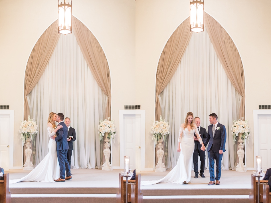 Photo of bride and groom during their ceremony at an intimate wedding at Belle Chapel in Snohomish, a wedding venue near Seattle. | Joanna Monger Photography | Snohomish & Seattle Photographer