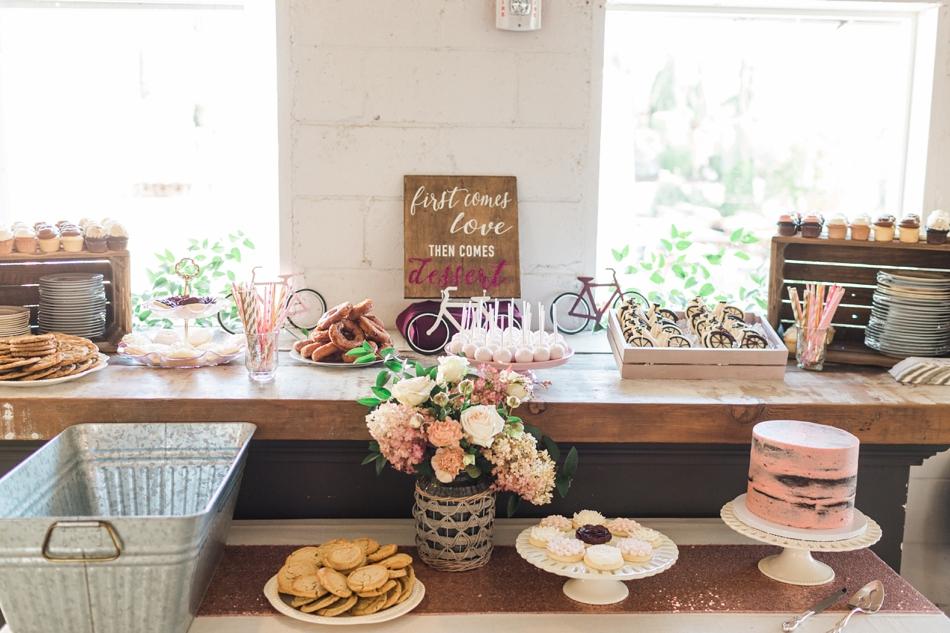 Photo of dessert bar at Snohomish Wedding Venue Dairyland Barn near Seattle | Joanna Monger Photography