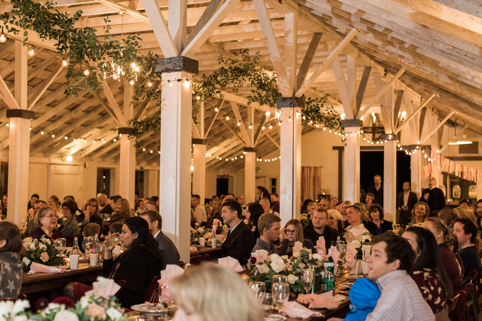 Photo of reception at Snohomish Wedding Venue Dairyland Barn near Seattle | Joanna Monger Photography