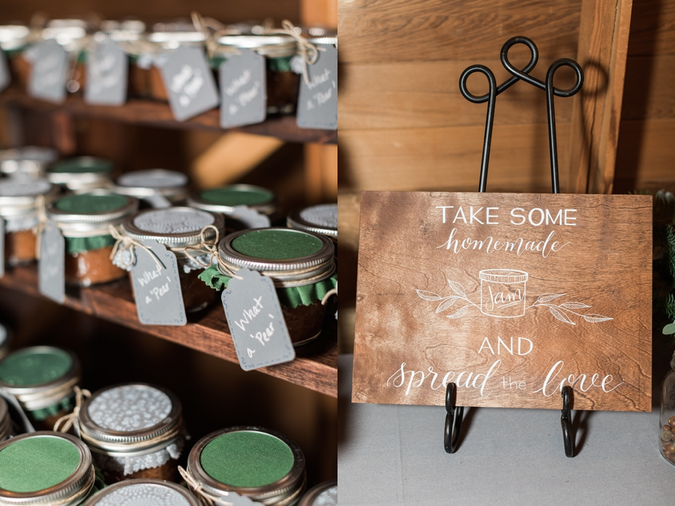 A photo of wedding favors for a fall wedding at the Loft at Russell's in Bothell, a wedding venue near Seattle. | Joanna Monger Photography | Snohomish & Seattle Wedding Photographer
