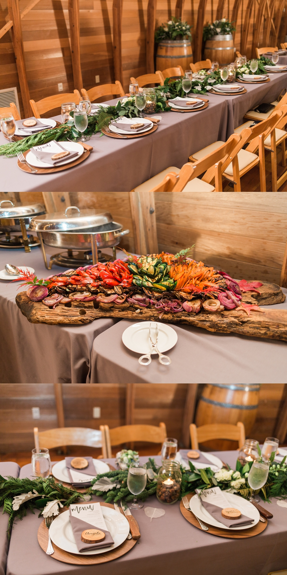 A photo of catering for a fall wedding at the Loft at Russell's in Bothell, a wedding venue near Seattle. | Joanna Monger Photography | Snohomish & Seattle Wedding Photographer