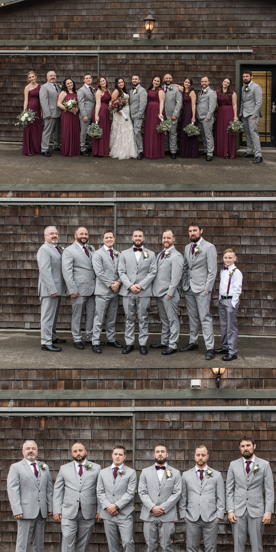 A photo of a groom and his groomsmen before his winter wedding at Hidden Meadows in Snohomish, a wedding venue near Seattle, WA. | Joanna Monger Photography | Snohomish & Seattle Wedding Photographer