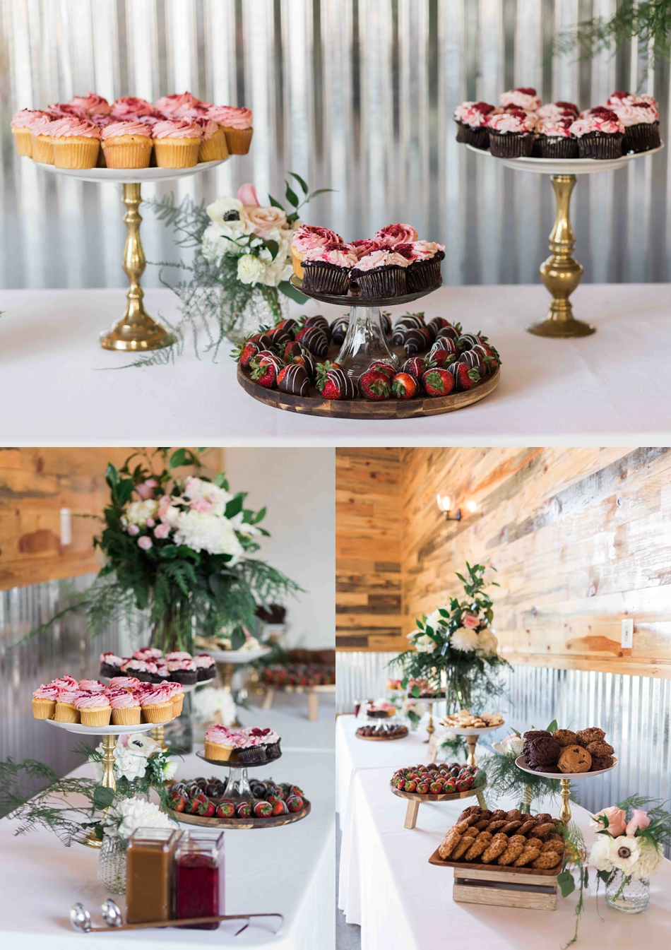 Wonderful desserts at Twin Willow Gardens in Snohomish. Photographs by Joanna Monger Photography, Snohomish's Best Wedding Photographer.