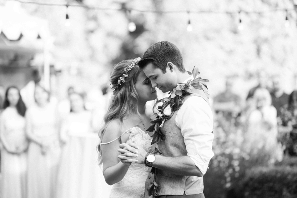 First dance at Twin Willow Gardens in Snohomish. Photographs by Joanna Monger Photography, Snohomish's Best Wedding Photographer.