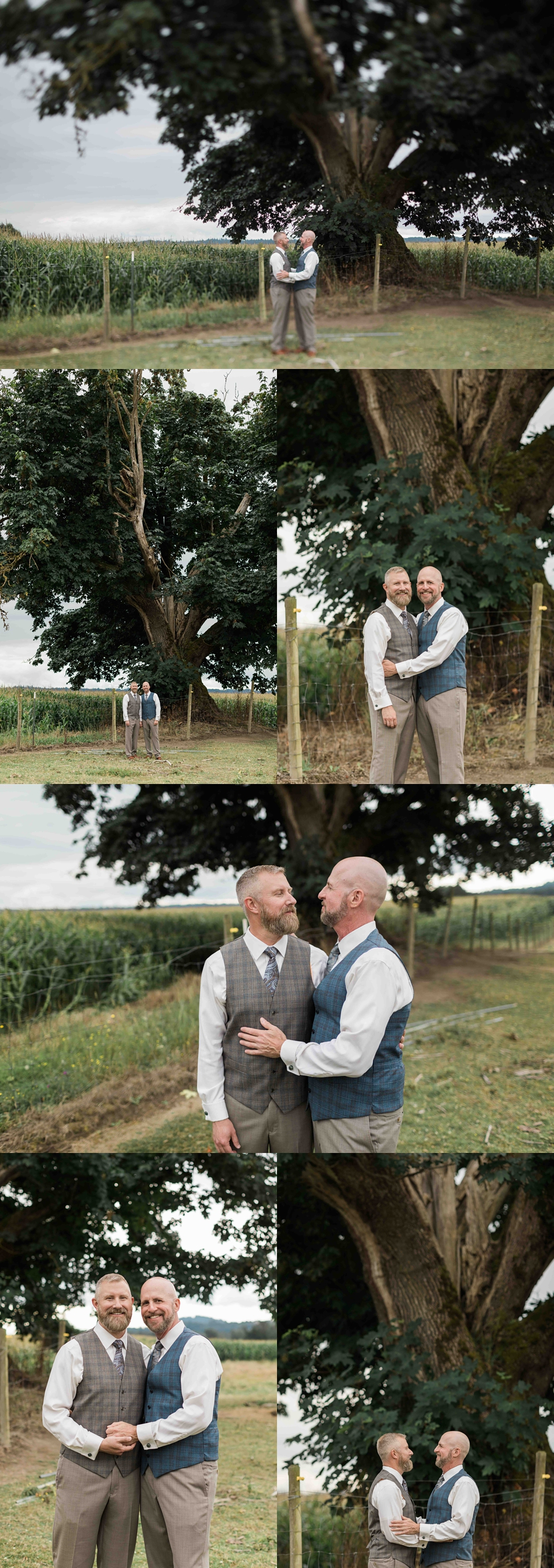 Tender moments at Falling Water Gardens in Monroe. Photographs by Joanna Monger Photography, Snohomish's Best Wedding Photographer.