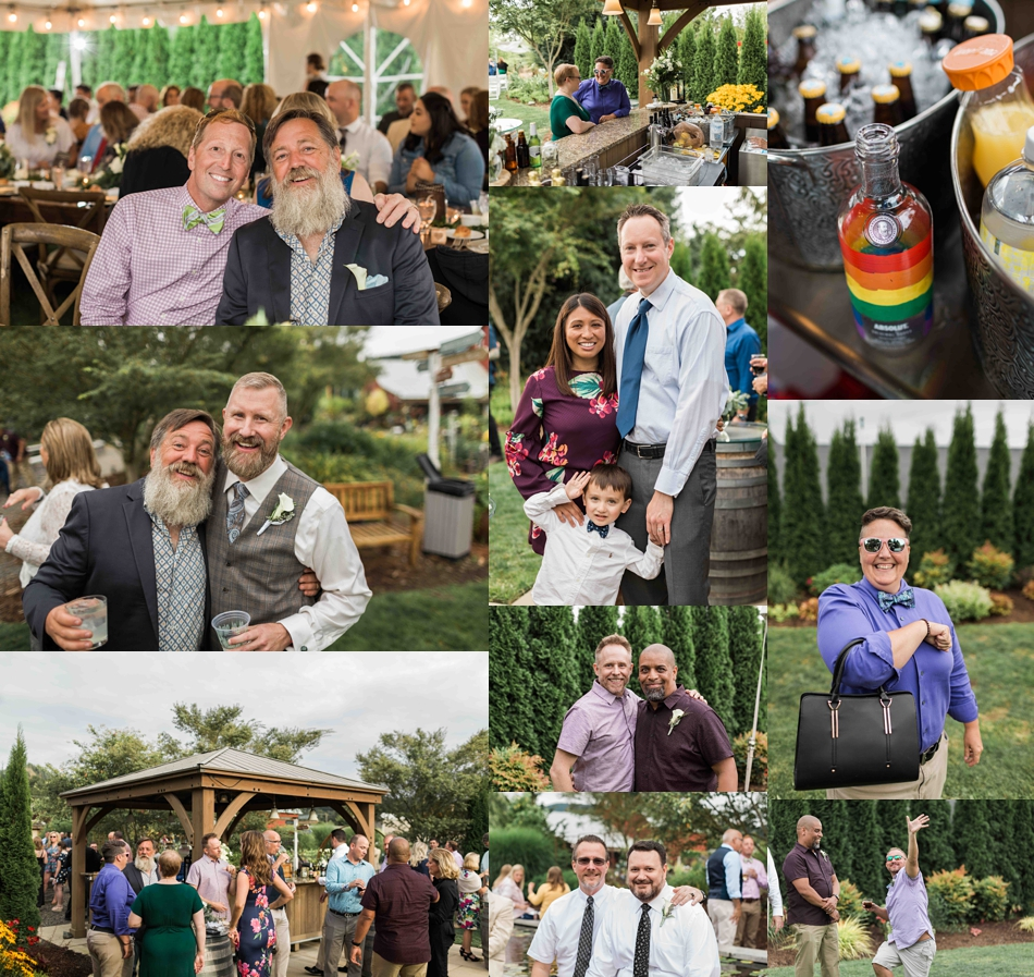 The wedding guests at Falling Water Gardens in Monroe. Photographs by Joanna Monger Photography, Snohomish's Best Wedding Photographer.