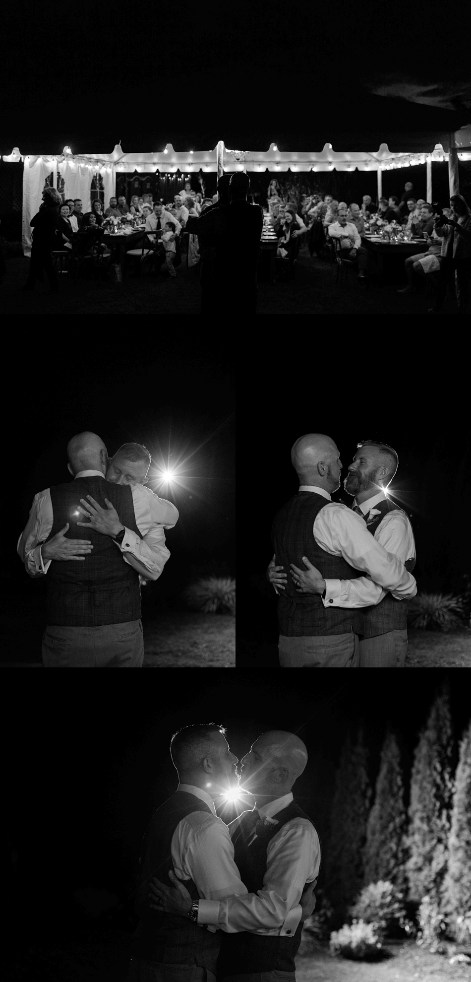 Dancing in the moonlight at Falling Water Gardens in Monroe. Photographs by Joanna Monger Photography, Snohomish's Best Wedding Photographer.
