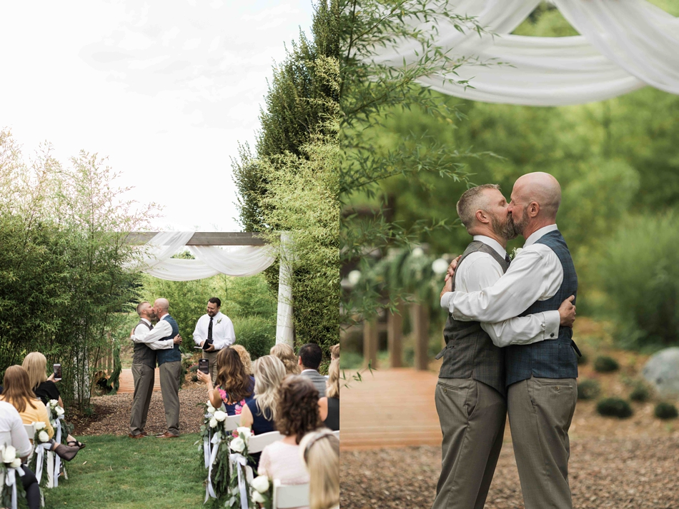A magical moment at Falling Water Gardens in Monroe. Photos by Joanna Monger Photography, Snohomish and Seattle Wedding Photographer.