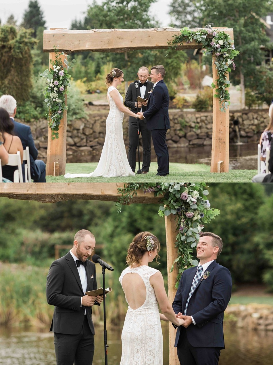 Getting ready to say I doat Pine Creek Nursery in Monroe. Photos by Joanna Monger Photography, Snohomish and Seattle Wedding Photographer.