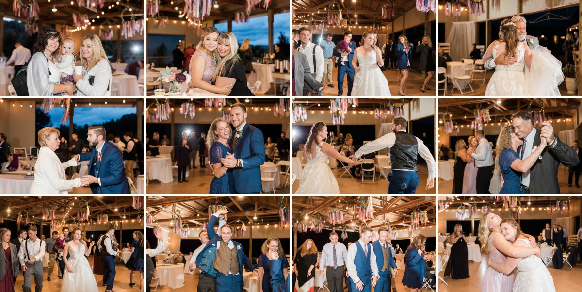 Guests dancing at Craven Farms in Snohomish. Photos by Joanna Monger Photography, Snohomish and Woodinville Wedding Photographer.