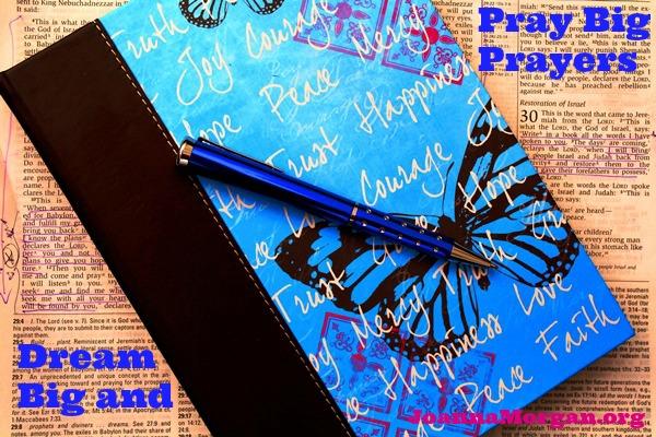 Dream Big and Pray Big Prayers by Joanna Morgan 7-18-13 Blog