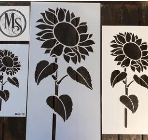 sunflower with stem - medium