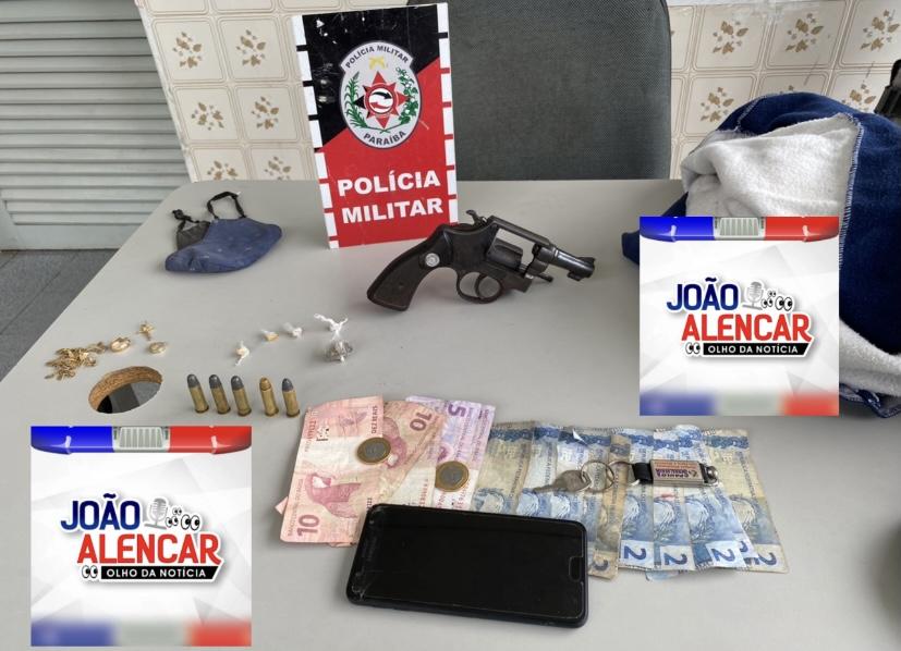 Exclusivo Polícia Militar de Pombal prende em flagrante um suspeito de assaltar a Queijeira na tarde dessa terça-feira. Arma e drogas foram apreendidas.