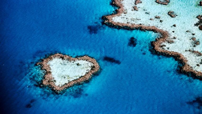 5 Ilhas em forma de coração.